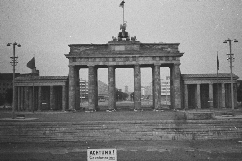 The Brandenburg Gate and Wall, view from British Sector of Berlin