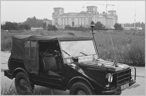 RMP DKW 'Mungy' Patrol Vehicle with Reichstag in background
